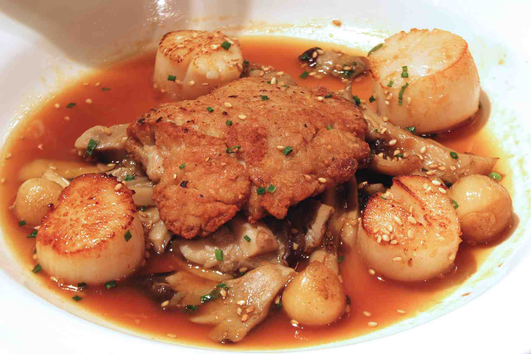 Sweetbreads and Scallops